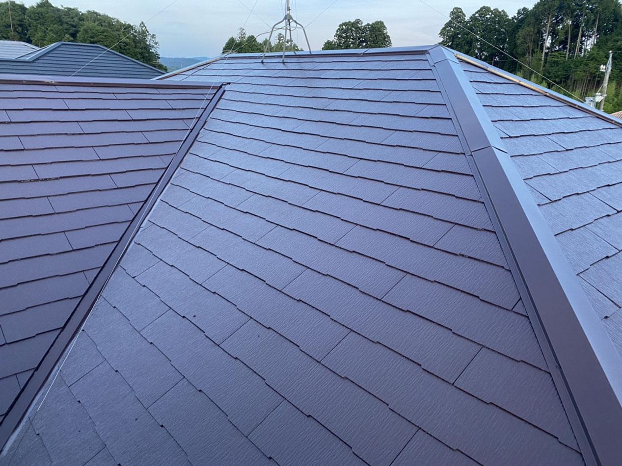 屋根塗装・我が家の屋根は本当に大丈夫??ドローン空撮で確認・安心の毎日になりました♪