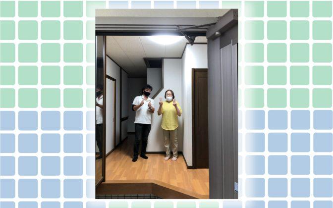 水廻りと玄関を一番キレイにしたい!ホワイトカラークロスを基調にお風呂・洗面・トイレと玄関を変えました。急なお客様でも平気!